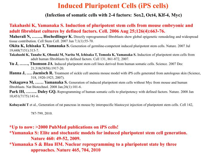 Induced Pluripotent Cells (iPS cells)