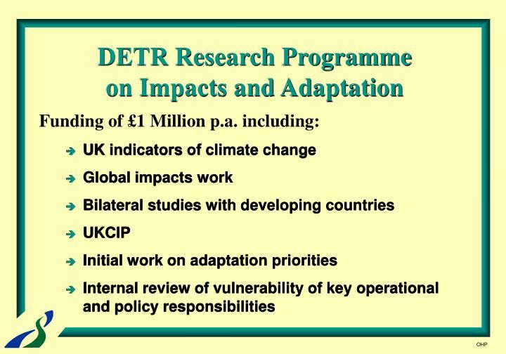 DETR Research Programme