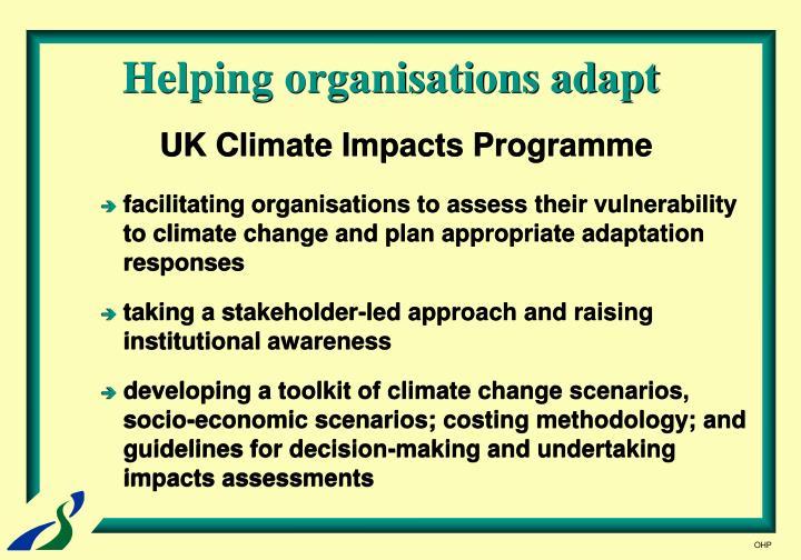 Helping organisations adapt