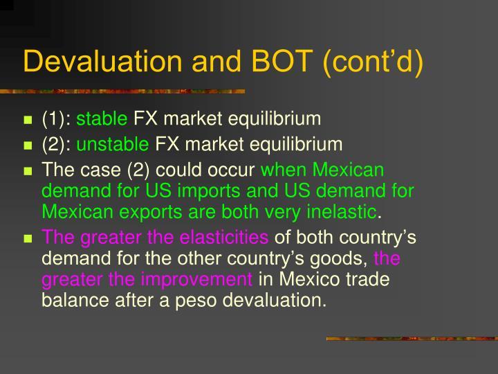 Devaluation and BOT (cont'd)