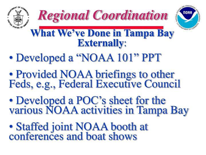 Regional Coordination