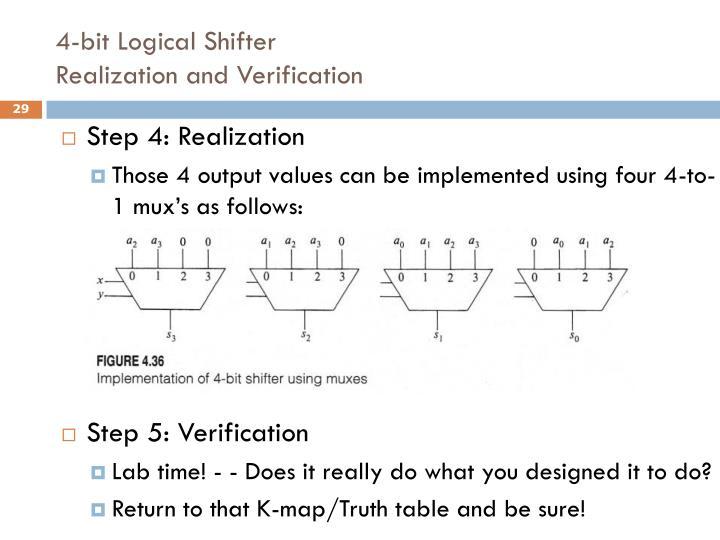 4-bit Logical Shifter