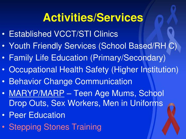 Activities/Services