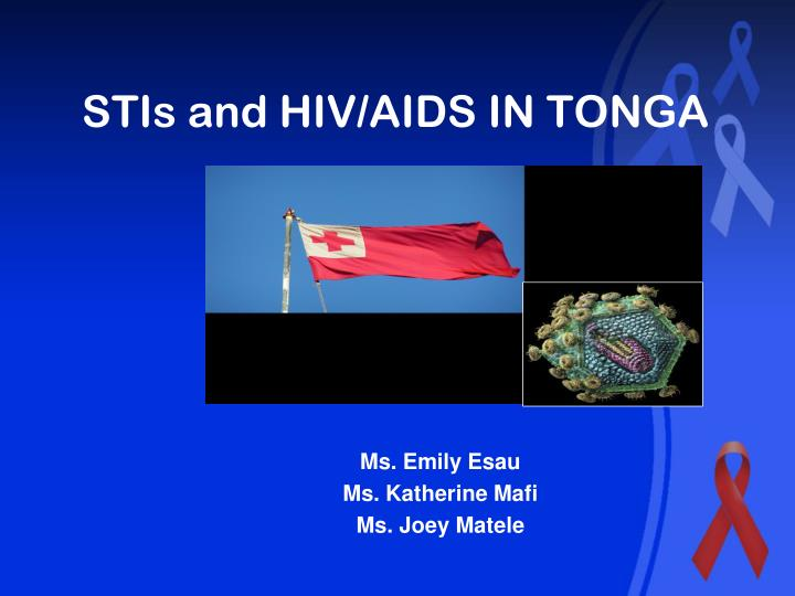Stis and hiv aids in tonga