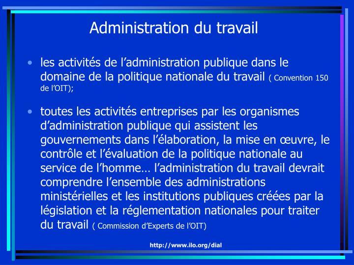 Administration du travail