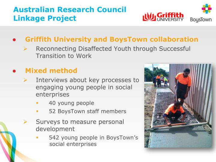 Australian Research Council Linkage Project