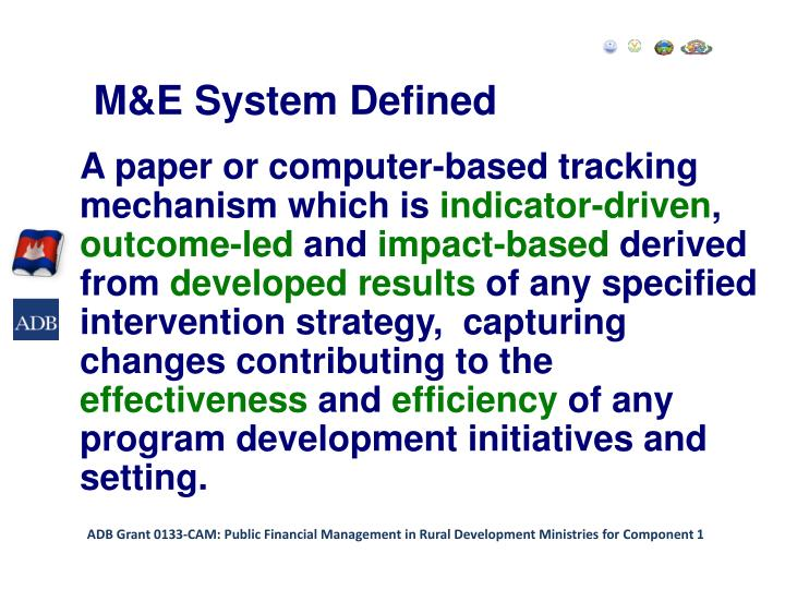 M&E System Defined