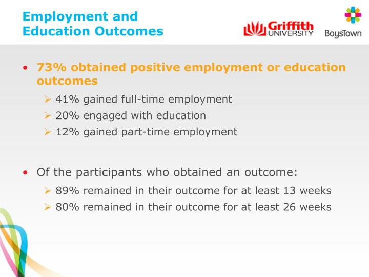 Employment and Education Outcomes