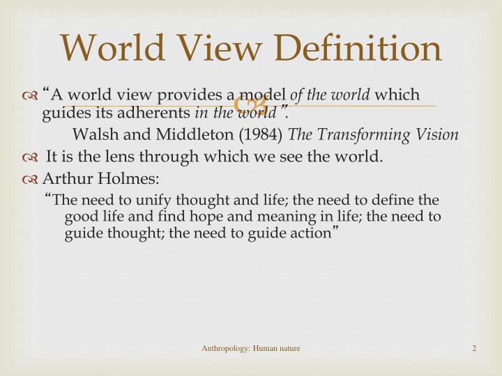 World View Definition