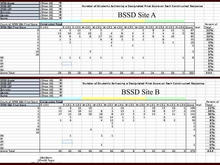 BSSD Site A