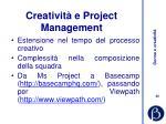 creativit e project management