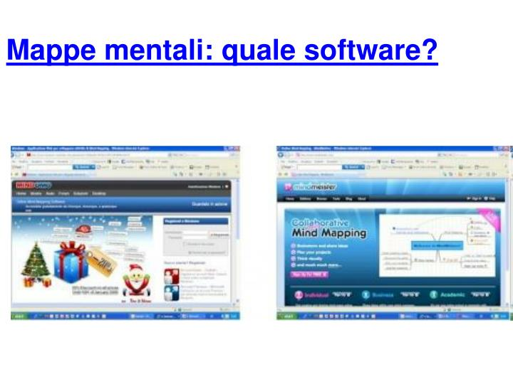 Mappe mentali: quale software?
