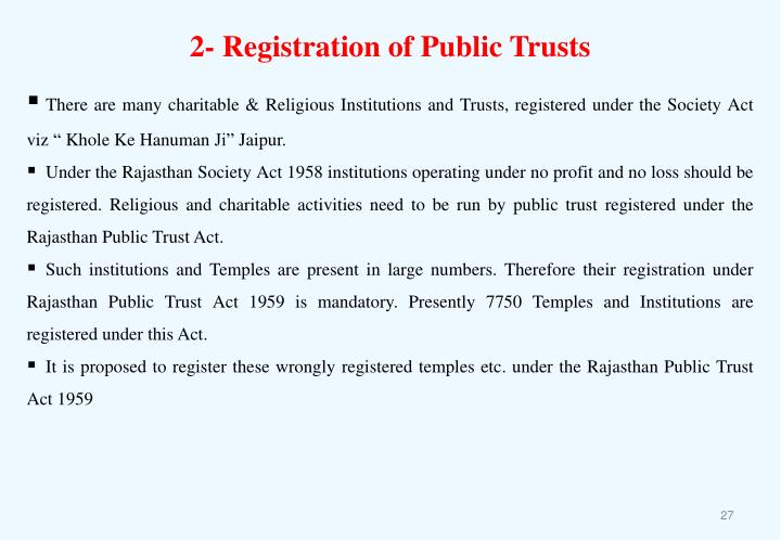 2- Registration of Public Trusts