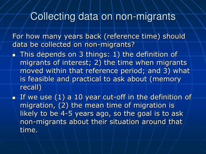 Collecting data on non-migrants