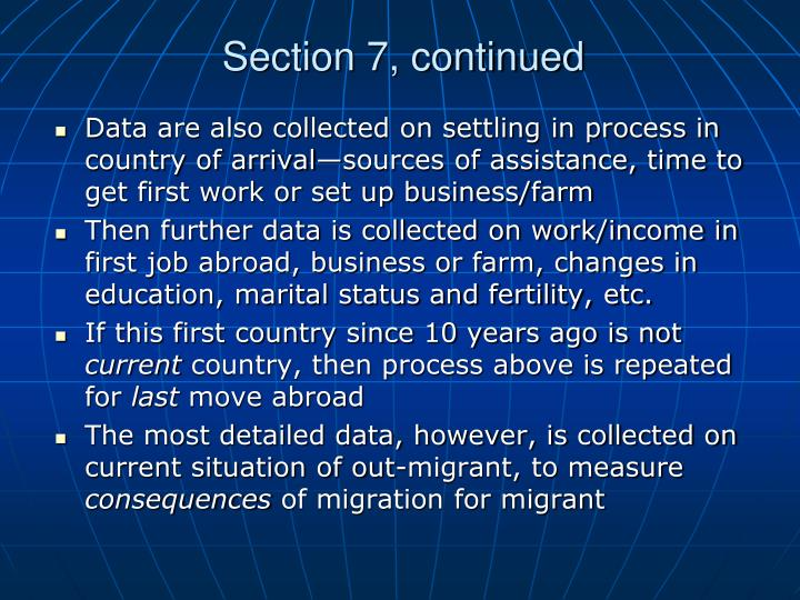 Section 7, continued