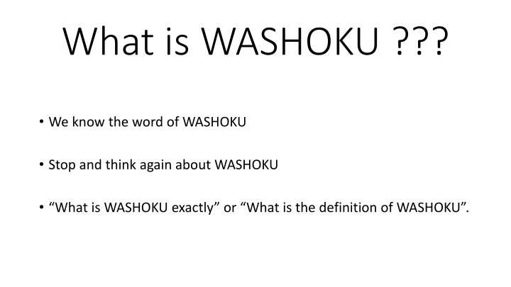 What is washoku1