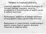 threats to livestock diversity