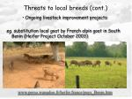 threats to local breeds cont