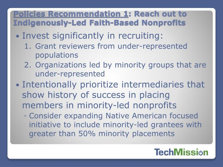 Policies Recommendation 1