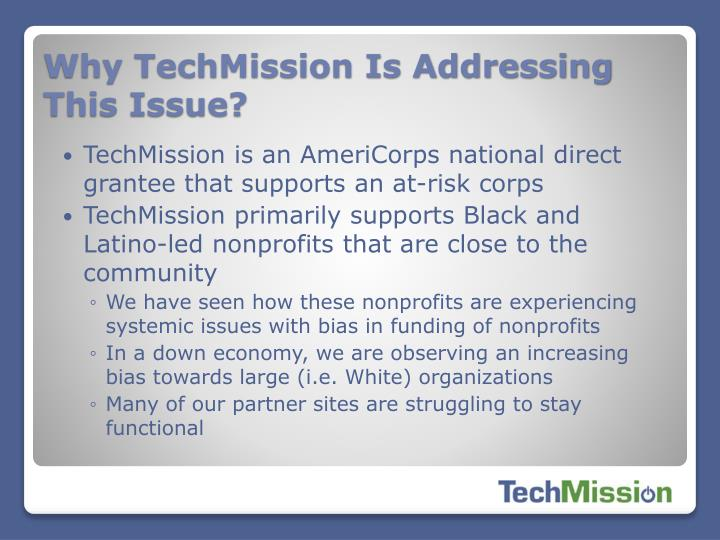 Why TechMission Is Addressing This Issue?