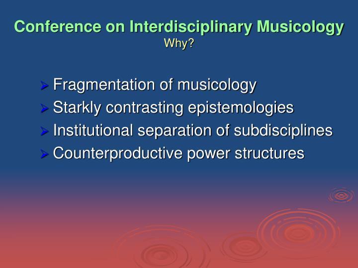 Conference on Interdisciplinary