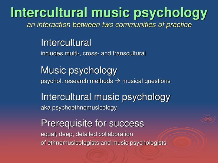 Intercultural music psychology
