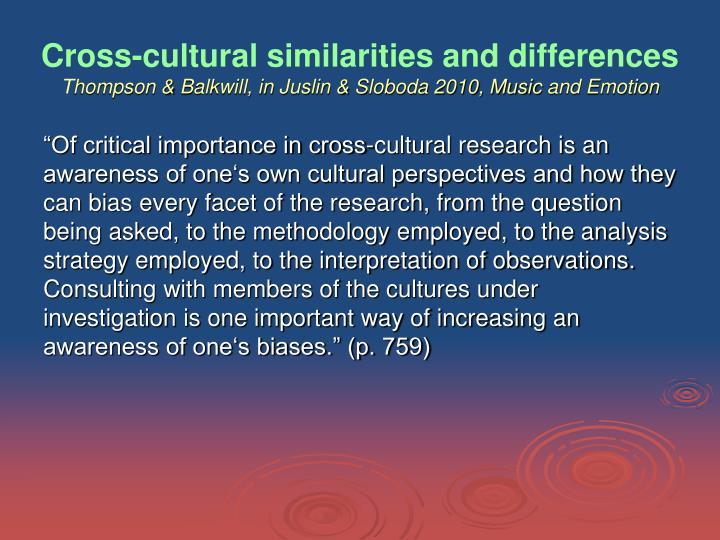 Cross-cultural