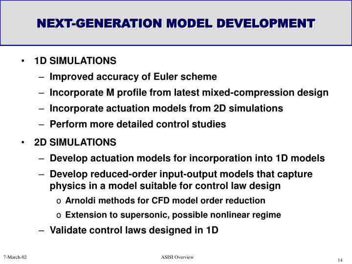 NEXT-GENERATION MODEL DEVELOPMENT