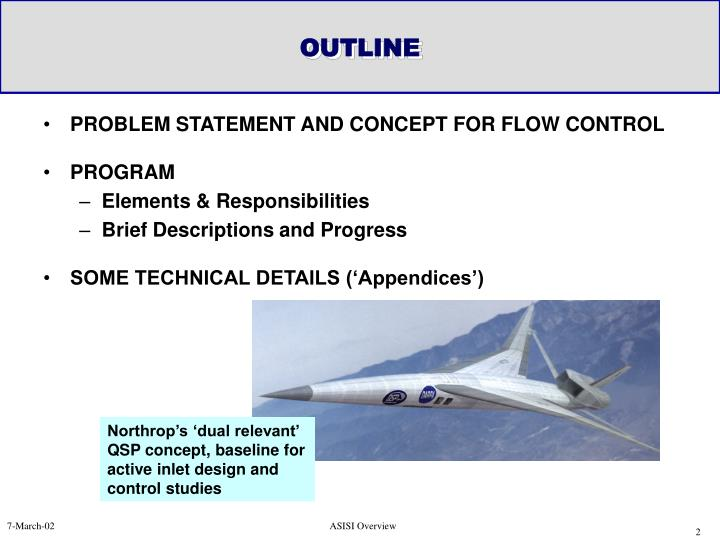 PROBLEM STATEMENT AND CONCEPT FOR FLOW CONTROL