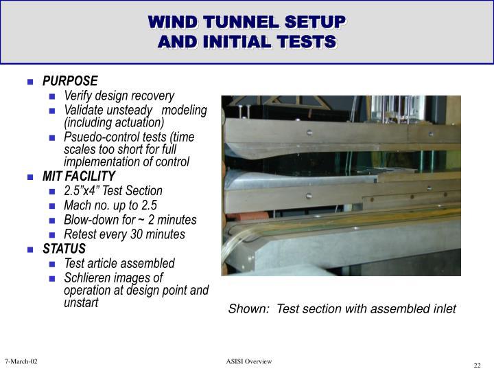 WIND TUNNEL SETUP