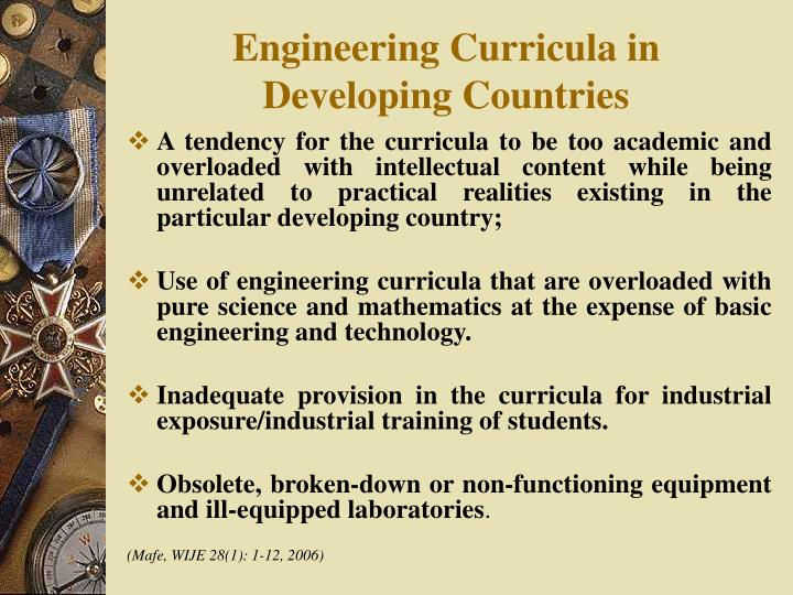 Engineering Curricula in