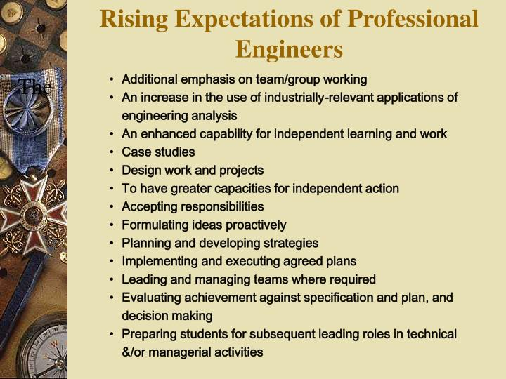Rising Expectations of Professional Engineers