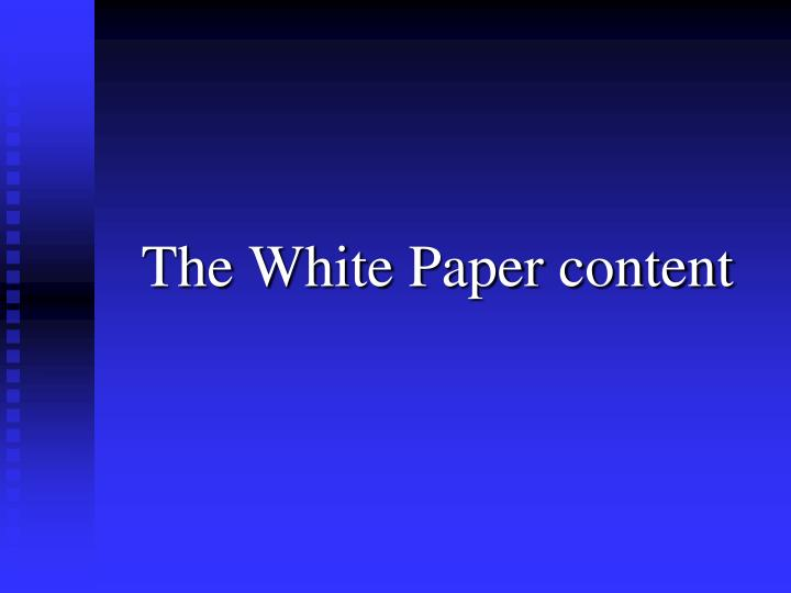 The White Paper content