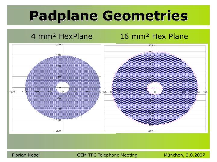 Padplane Geometries