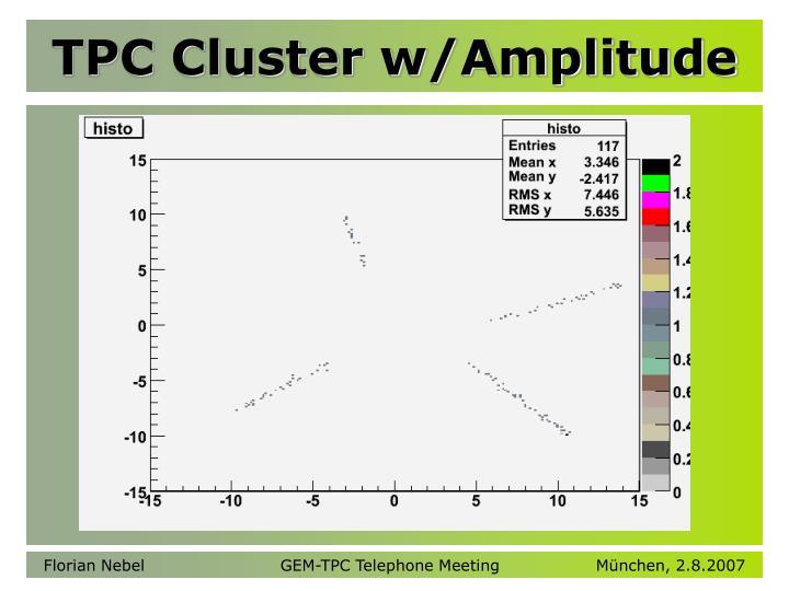 TPC Cluster w/Amplitude