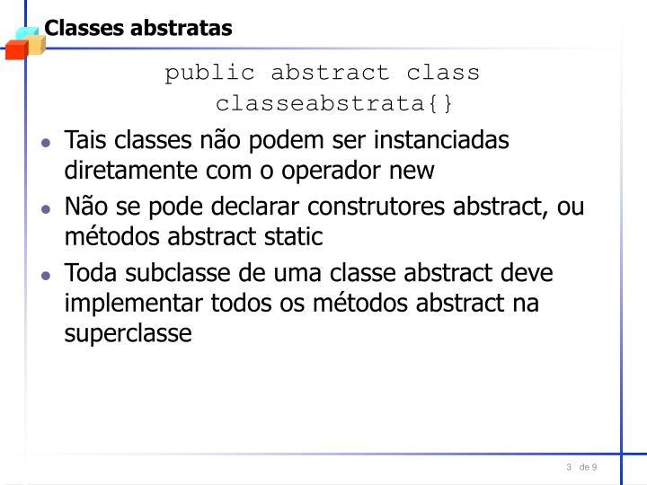 Classes abstratas