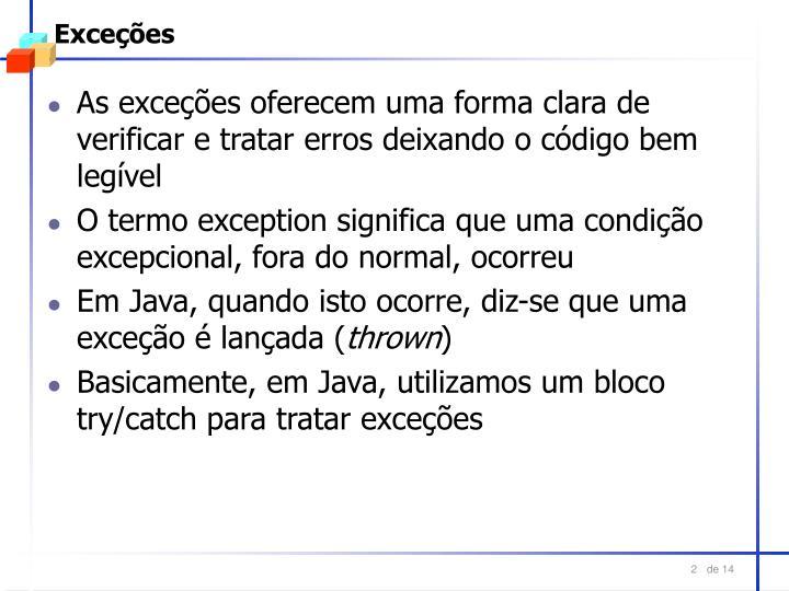 Exceções
