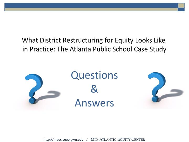 What District Restructuring for Equity Looks Like