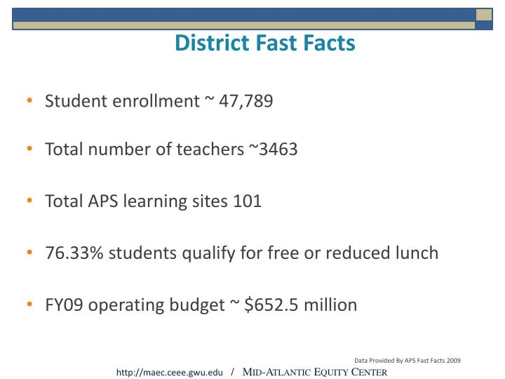 District Fast Facts