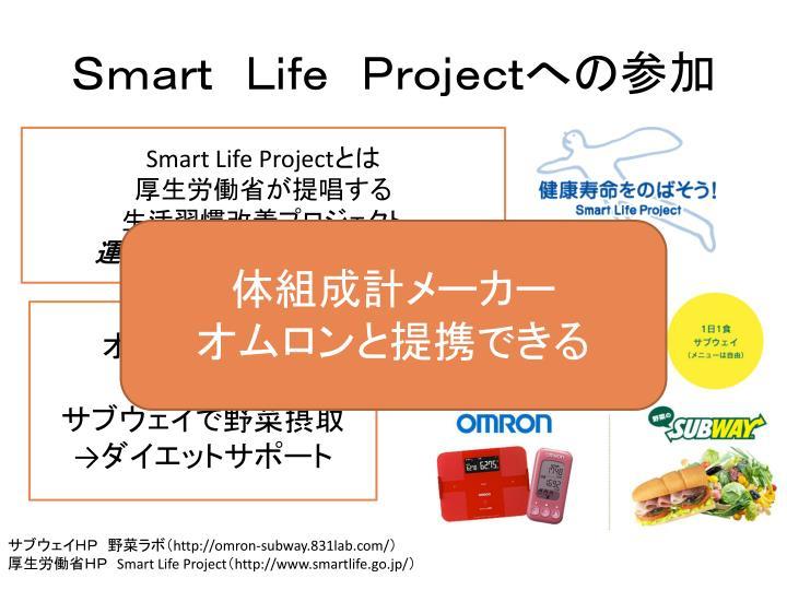 Smart Life Projectへの参加
