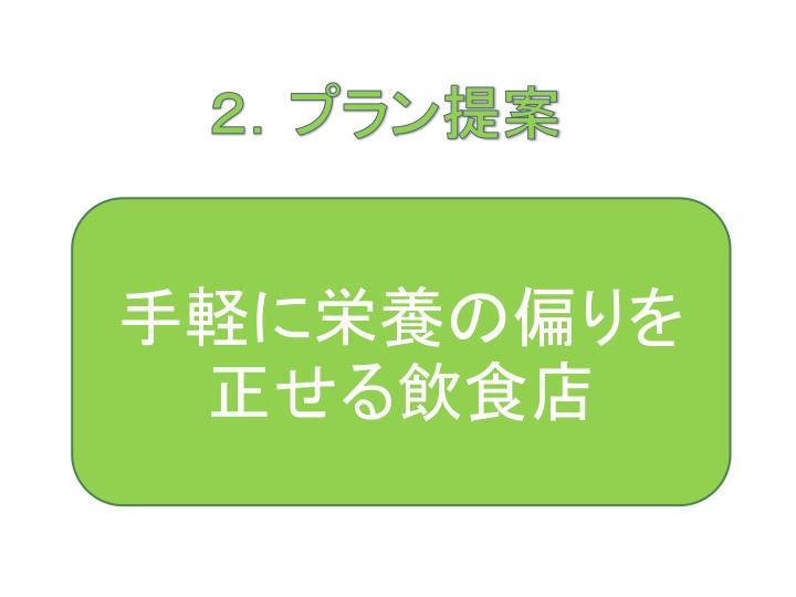 2.プラン提案