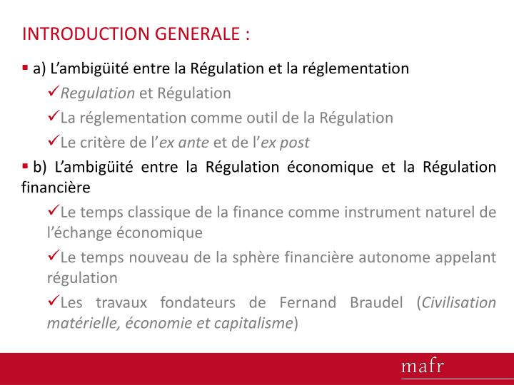 INTRODUCTION GENERALE :