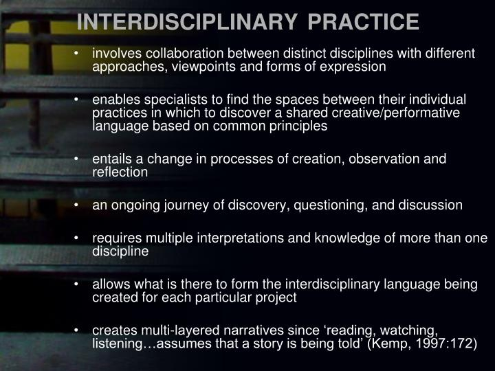 INTERDISCIPLINARY