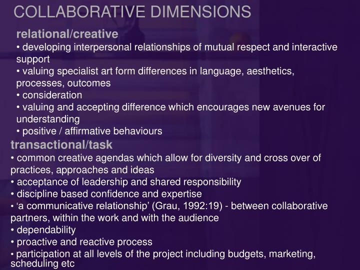 COLLABORATIVE DIMENSIONS