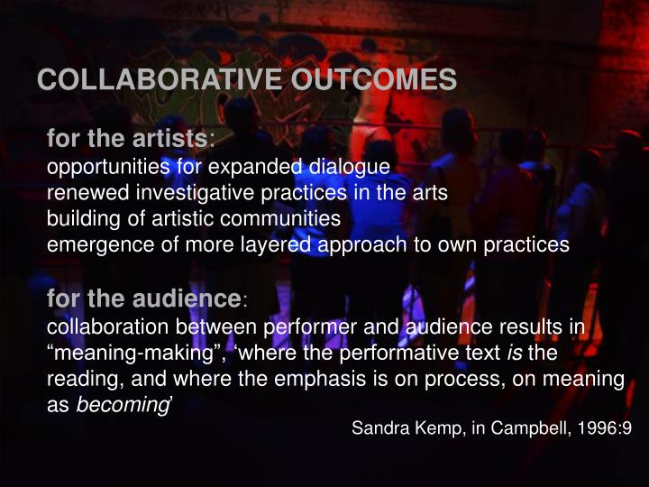 COLLABORATIVE OUTCOMES