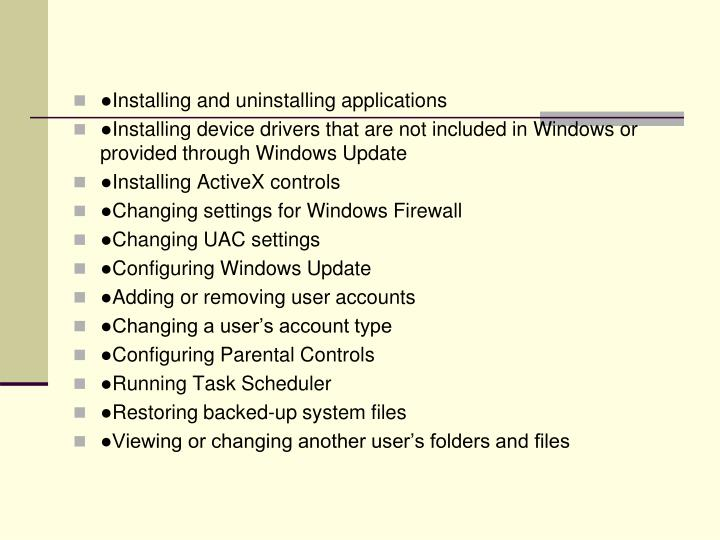 ●Installing and uninstalling applications