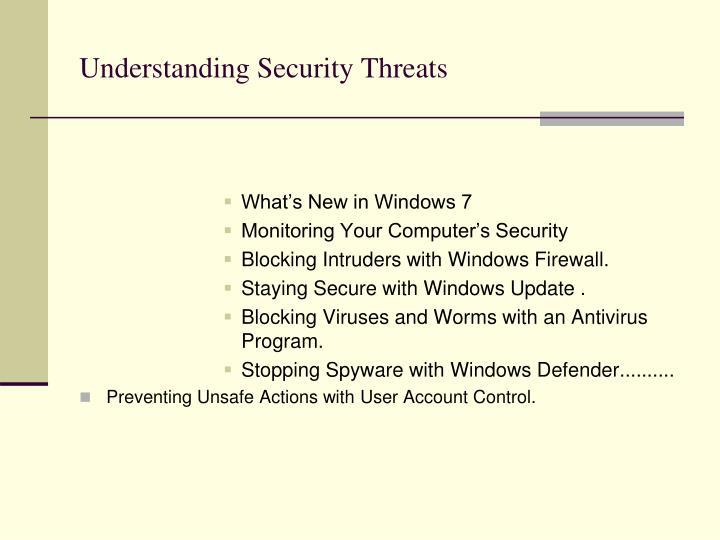 Understanding Security Threats