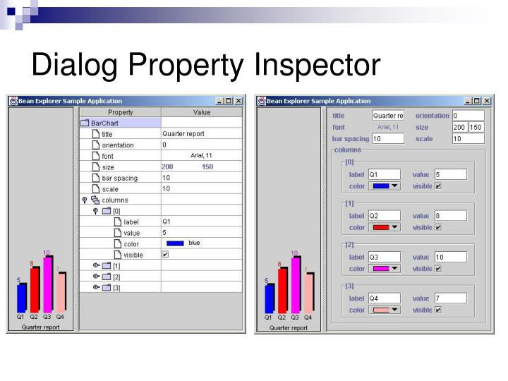 Dialog Property Inspector