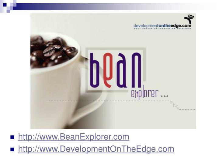 http://www.BeanExplorer.com