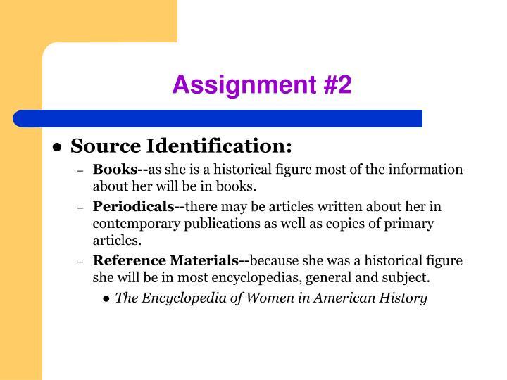 Assignment #2